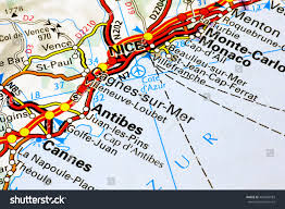 Cannes Map by Milan Italy October 19 2015 Cote Stock Photo 493506583 Shutterstock