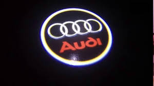 logo audi how to install audi car door led logo projector ghost shadow