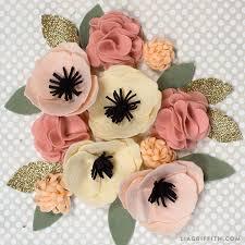 felt flowers diy felt flower poms lia griffith