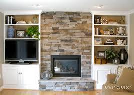 fireplace bookshelf binhminh decoration
