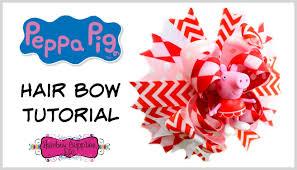hair bow supplies peppa pig hair bow tutorial hairbow supplies etc