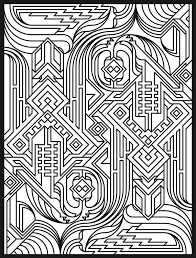 coloring pages patterns geometric funycoloring