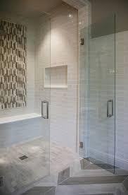 tribeca 3 x 9 bossy gray shower wall tiles limestone
