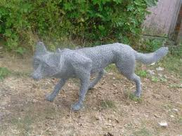 sculpture fox meta lchicken wire mesh size fox garden