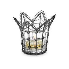 wire lace black wire lace votive holder