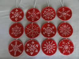 sequin snowflakes felt christmas ornament pattern snowflake