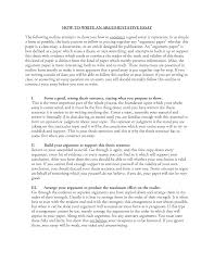 argumentative essay middle example