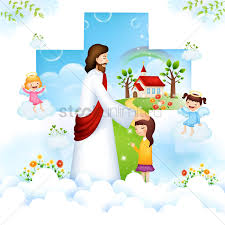 jesus blessing a child vector image 1492710 stockunlimited