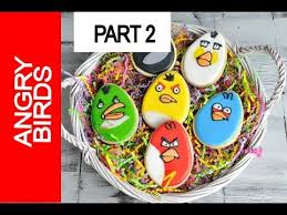 Decorating Easter Eggs With Royal Icing by Angry Birds Cookies For Easter Decorating With Royal Icing Part 2