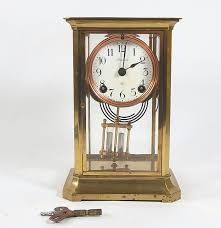 Ansonia Mantel Clock Brass Ansonia Mantel Clock Ebth