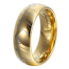 Lord Of The Rings Wedding Band by Amazon Com Ger 8mm Gold Lord Of Rings Men Women Tungsten Ring
