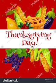 thanksgiving day meal abundance greeting banner stock vector