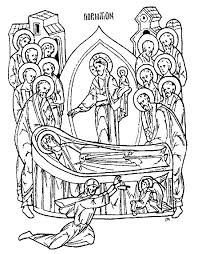 honor your father and mother coloring page the nativity of the theotokos september 8 focus education unit