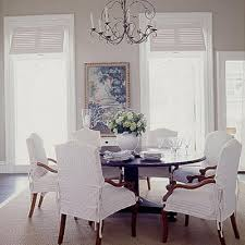 Linen Slipcovered Dining Chairs Slipcovered Dining Room Chairs Project For Awesome Photos Of