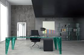 Home Office Furniture Black by Impressive Modern Home Office With Black Glass Table In Top