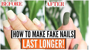 how to make acrylic nails last longer works for gel nails too