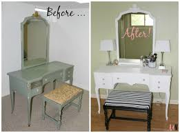 Vintage Vanity Table 1940 U0027s Vintage Vanity Table U0026 Bench Makeover U2022 Miss In The Midwest
