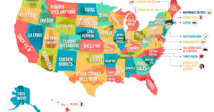 Illinois On A Map by This Map Shows Which Food People The Most In Each State