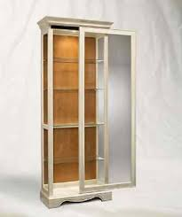 White Curio Cabinet Antique White Curio Cabinet Lighted Display Case Glass Shelves