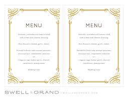 pages menu template printable wedding menu template instant classic 5x7