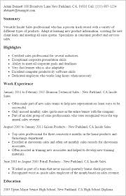 resume templates sles sales resume templates to impress any employer livecareer
