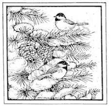 northwoods rubber stamps wood mounted chickadee trio and