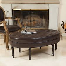 ottoman simple fno leather ottoman coffee table tufted mecox