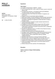Analyst Resume Examples Data Analyst Resume Sample Velvet Jobs