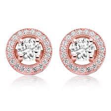 gold stud earrings uk silver gold cubic zirconia stud earrings 0006367