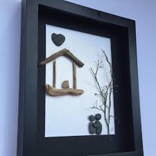 unique housewarming gift personalized couple u0027s gift pebble art