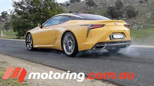 lexus lc twin turbo 2017 lexus lc 500 burnout and review motoring com au youtube