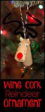 wine cork reindeer ornaments