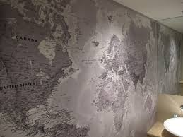 printed space educate while you decorate black and white world map mural by printed space printed for a clients bathroom wall