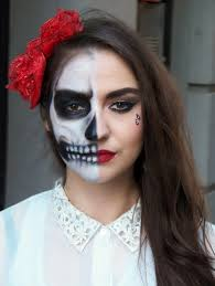 half halloween makeup the 15 best sugar skull makeup looks for halloween halloween