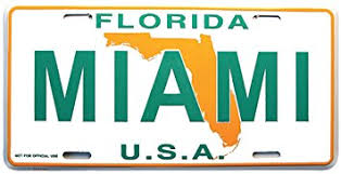 Florida Vanity Plate Cost Amazon Com Miami License Plate Miami Florida Souvenir License