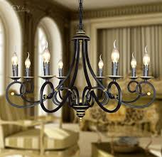 Wrought Iron Pendant Light Ac110 220v Lustres Wrought Iron Pendant Light Fixture Modern 8