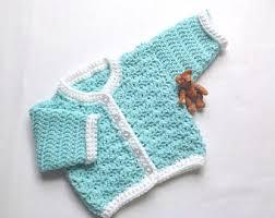 crochet baby sweater etsy