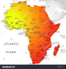 Map Of Africa Political by Political Map Africa Stock Vector 25761424 Shutterstock