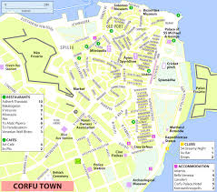 Map Greece by Corfu City Maps Greece Maps Of Corfu City Kerkyra