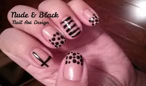 and black nail art designs youtube