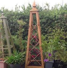 Oak Trellis Wooden Garden Obelisk Company Rhs Chelsea Exhibitor