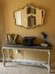 entrance table and mirror a stylish statement with console table decor