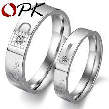 korean wedding rings stainless steel rings korean jewelry lock key his and