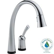 delta pilar single handle pull down sprayer kitchen faucet with