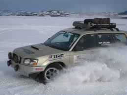 subaru forester off road lifted primitive enterprises rally performance parts for subaru