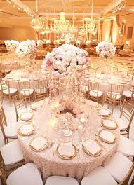 gold wedding decorations pink wedding reception idea featured