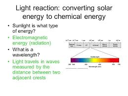 what type of energy is light ch 7 photosynthesis 7 6 7 9 light reaction converting solar