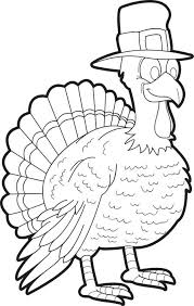 free printable thanksgiving turkey coloring kids 6