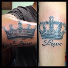 matching crown tattoos on hand matching crowns w true love