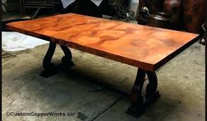 hammered copper dining table copper top tables incredible rated dining photos amazing charming